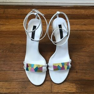 Sergio Rossi - Colorblock Embellished Sandals
